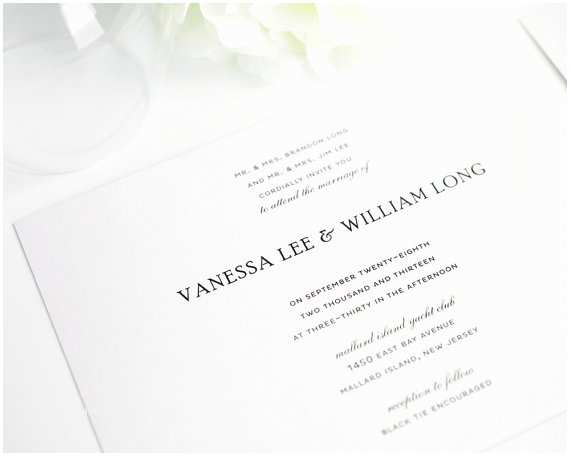 Elegant Wedding Invitation Sets Elegant Wedding Invitation Black White Silver Simple