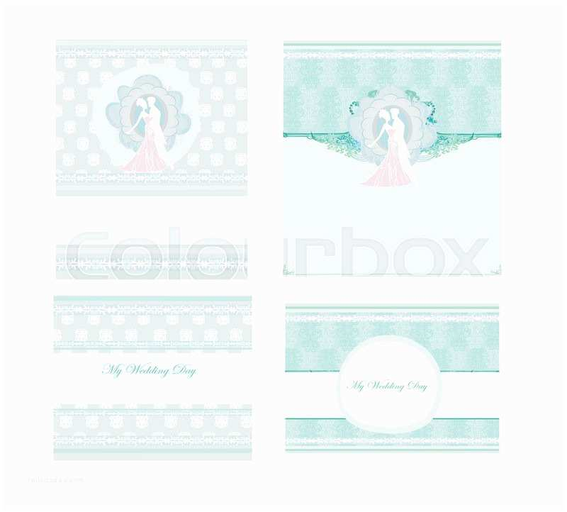 Elegant Wedding Invitation Sets Elegant Wedding Invitation Set Stock Vector