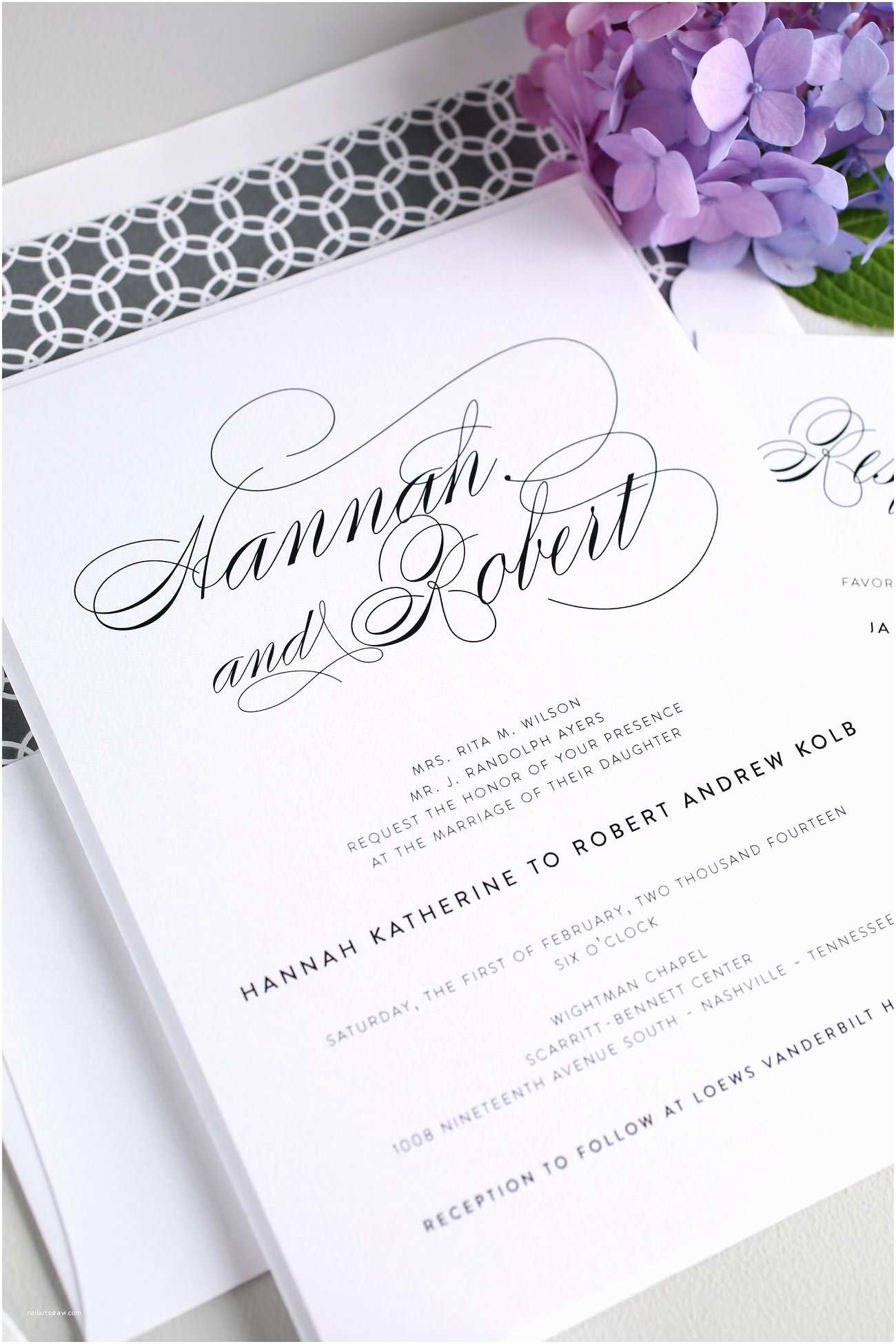 Elegant Wedding Invitation Sets Elegant Wedding Invitations In Gray – Wedding Invitations