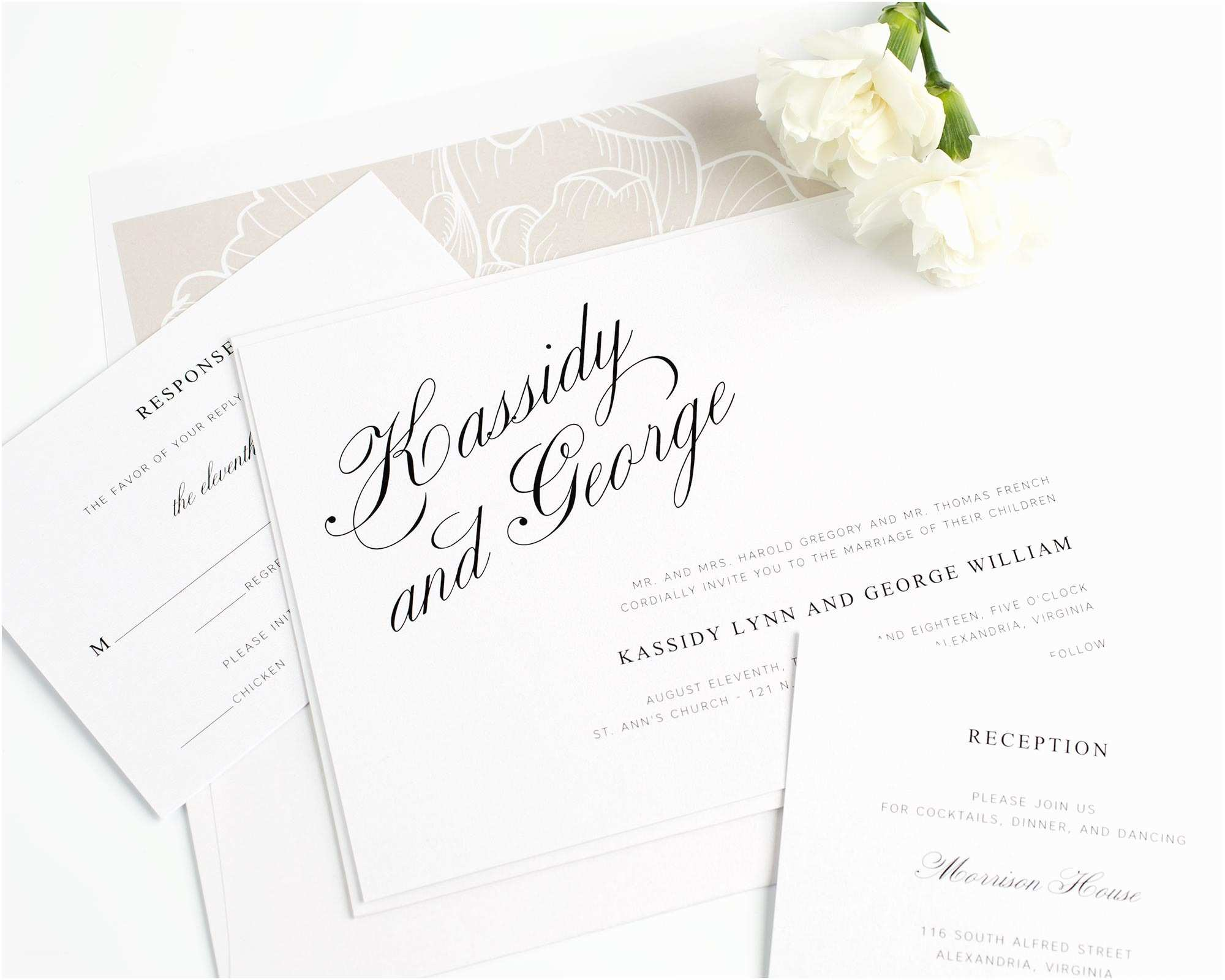 Elegant Wedding Invitation Sets Elegant Wedding Invitations In Mocha – Wedding Invitations