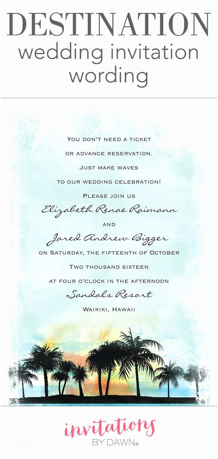 Elegant Wedding Invitation Wording top Collection Destination Wedding Invitation Wording