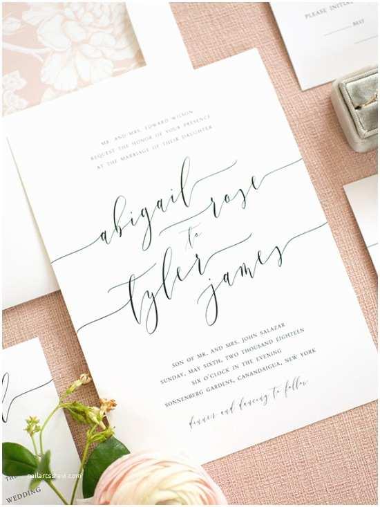 Elegant Wedding Invitations Clean Simple Elegant Wedding Invitations From Shine
