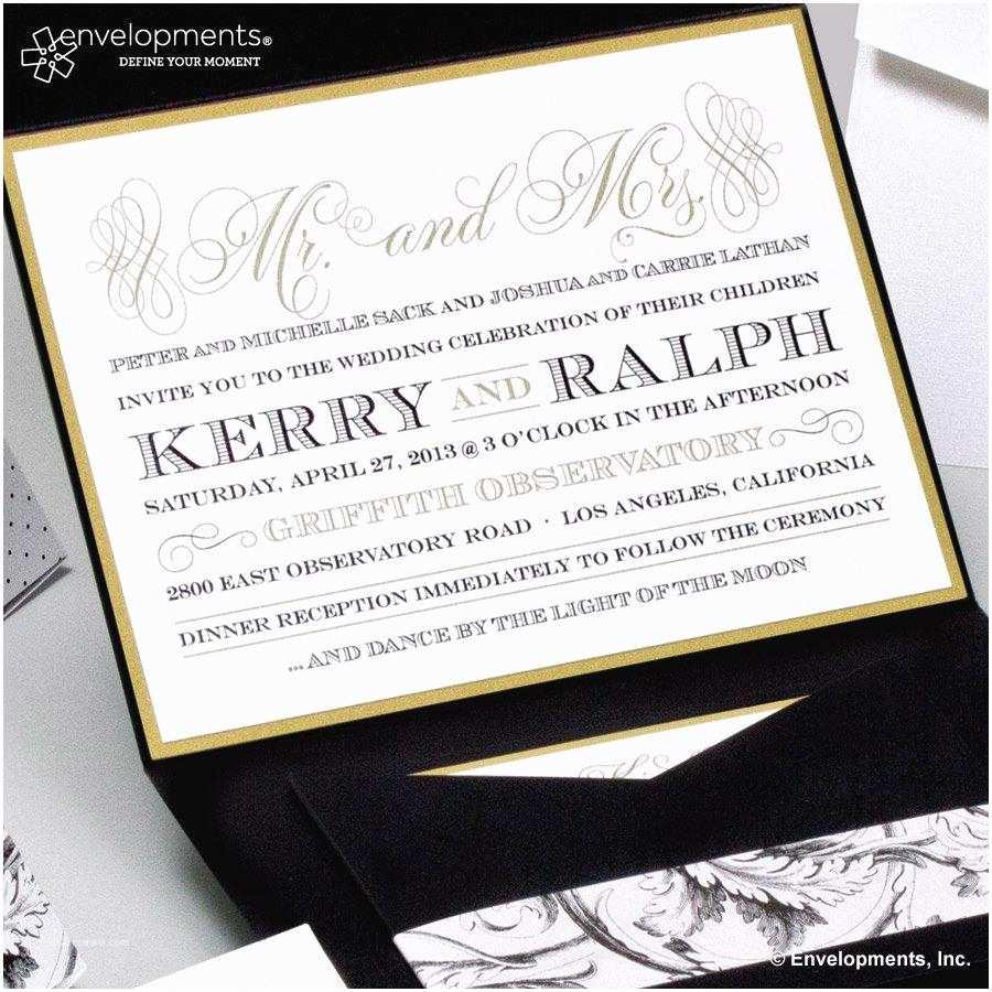 Elegant Wedding Invitations Elegant Gold Wedding Invitations Classic Black and Gold