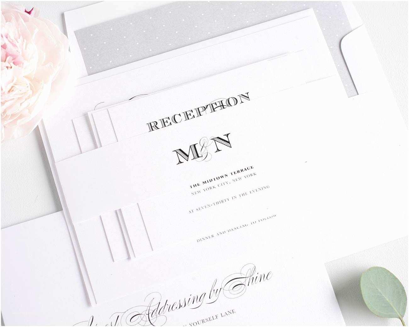 Elegant Wedding Invitations ornate Elegant Wedding Invitations In Black and White