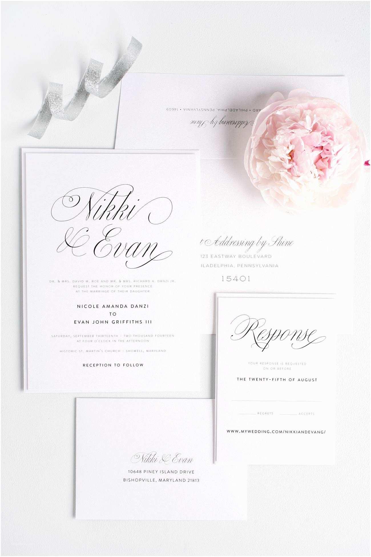Elegant Wedding Invitations Pink Script Wedding Invitations – Wedding Invitations