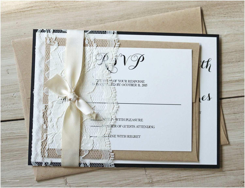 Elegant Wedding Invitations Rustic Wedding Invitation Elegant Lace Wedding Invitation