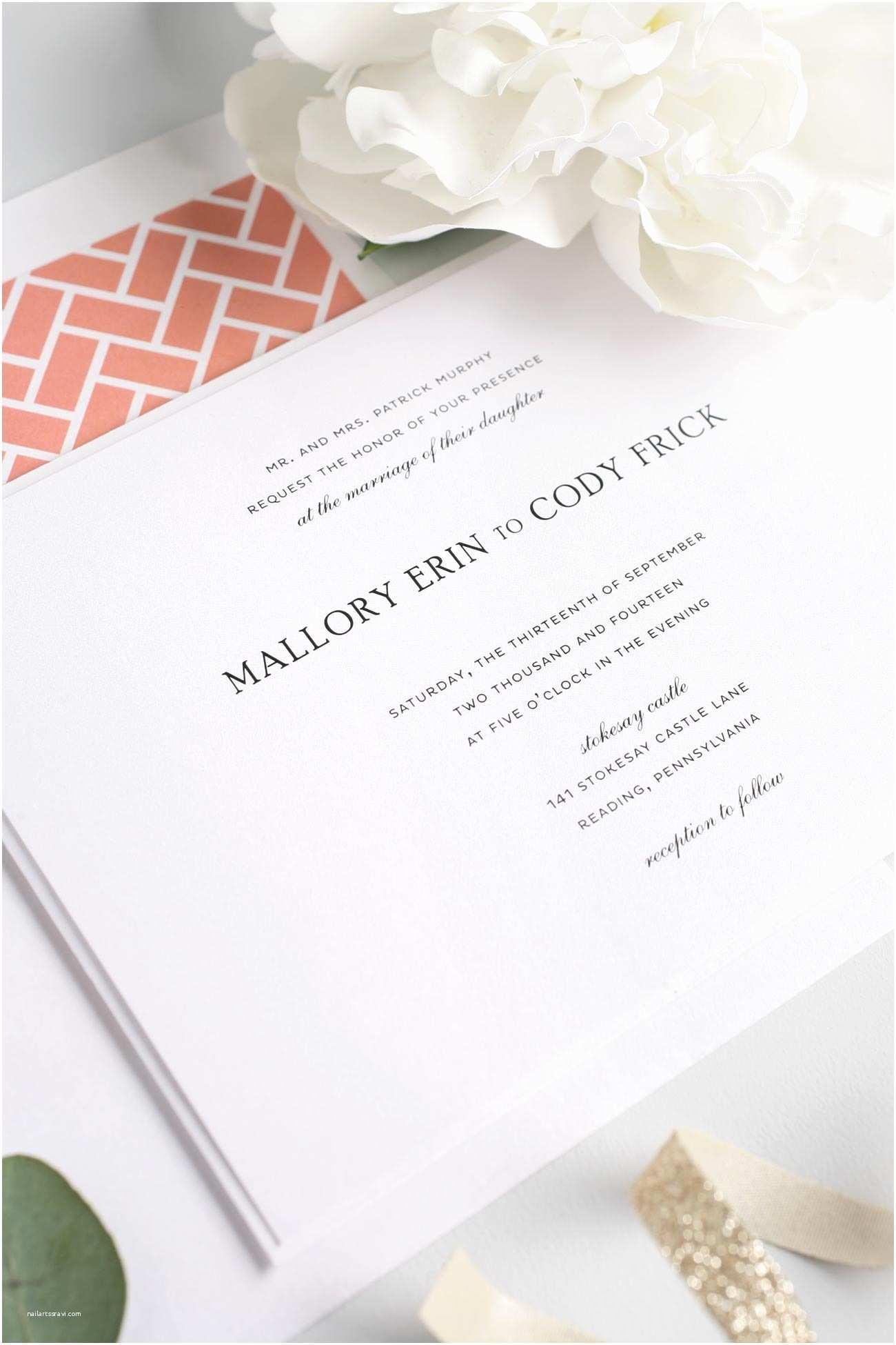 Elegant Wedding Invitations Simple Elegant Wedding Invitations – Gangcraft