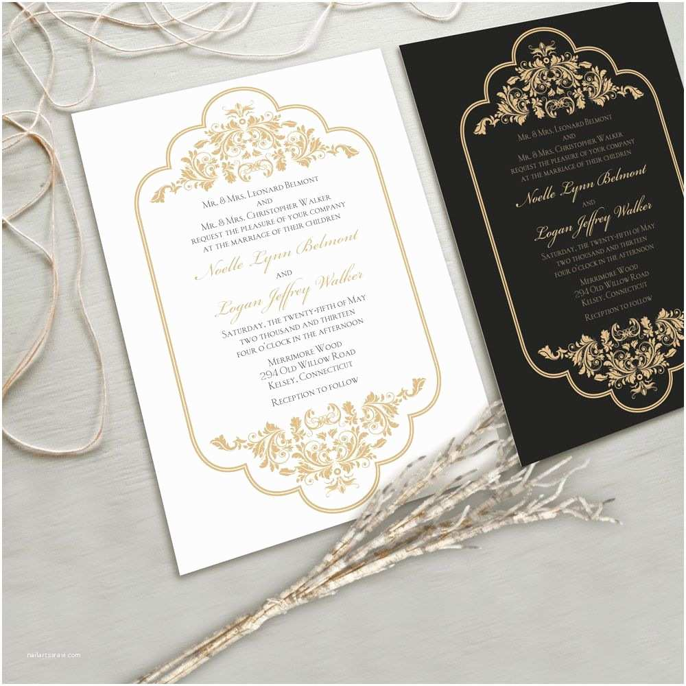 Elegant Wedding Invitations Timeless and Elegant Wedding Invitation Suite White and