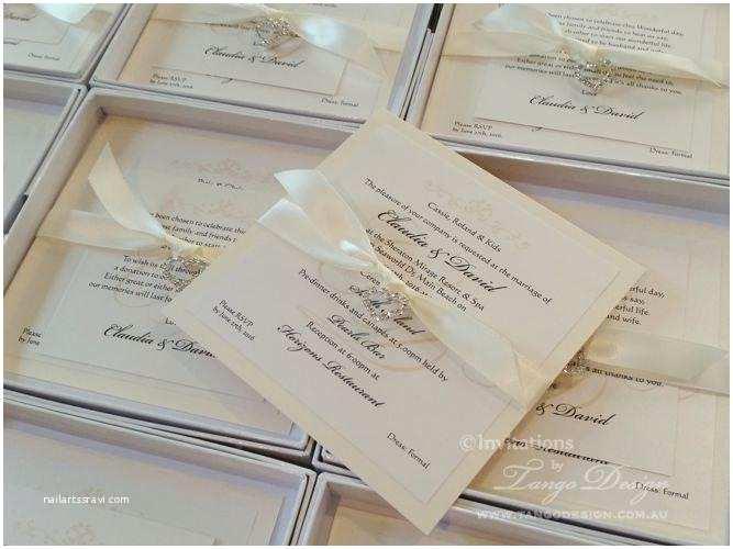 Elegant Wedding Invitations with Crystals Crystal Wedding Invitations Elegant Invites W Bling