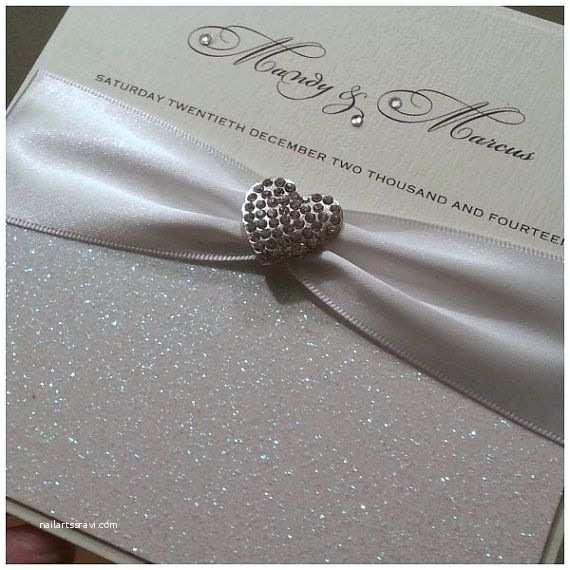 Elegant Wedding Invitations with Crystals Elegant Crystal Wedding Invitations