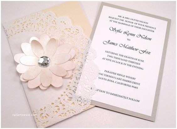 Elegant Wedding Invitations with Crystals Pinterest • the World's Catalog Of Ideas