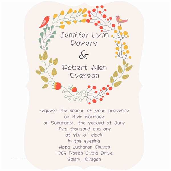 Elegant Wedding Invites Coupon Bracket Shaped Country Rustic Floral Wedding Invitations