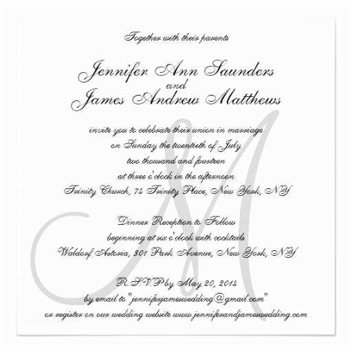 Elegant Wedding Invites Coupon Elegant Wedding Invitations Monogram Initial Names