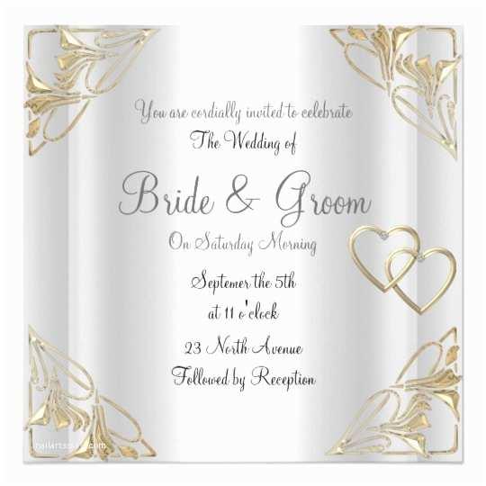 Elegant Wedding Invites Coupon Popular and Elegant Silver Wedding Invitation