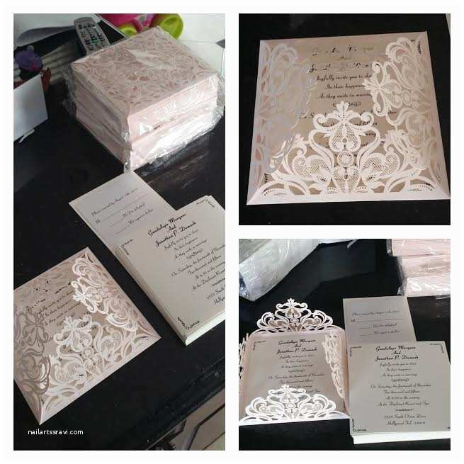 Elegant Wedding Invites Reviews Affordable Blush Pink Floral Laser Cut Wedding Invitation