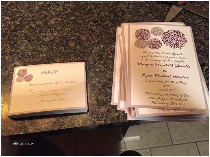 Elegant Wedding Invites Reviews Affordable Purple and Grey Dandelion Wedding Invitations
