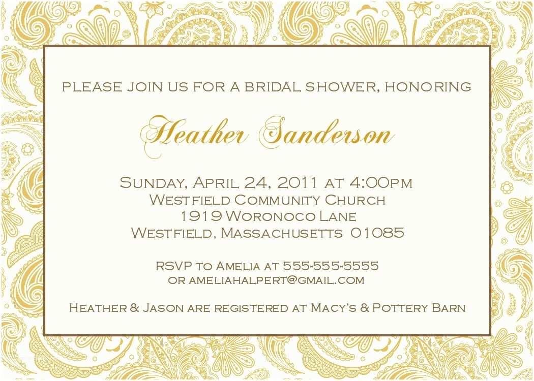 Elegant Wedding Shower Invitations Bear River Greetings Elegant Bridal Shower Invitations