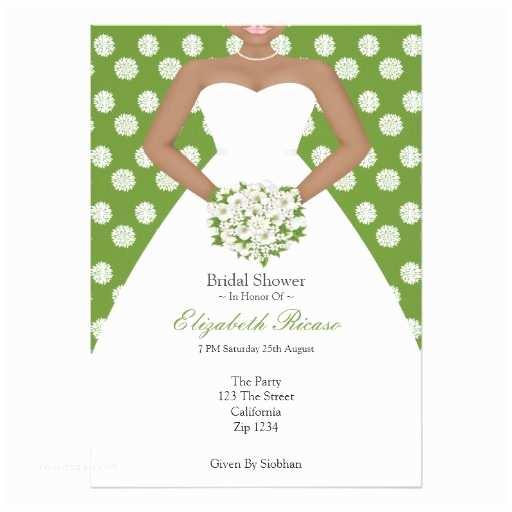 Elegant Wedding Shower Invitations Bridal Shower Elegant Wedding Dress Green Flowers