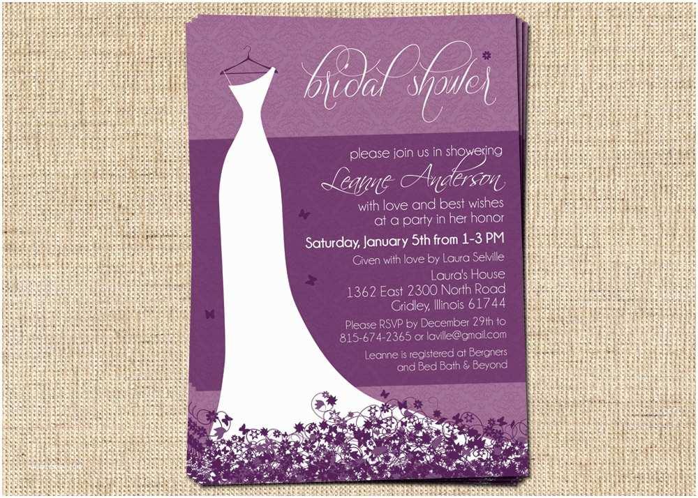 Elegant Wedding Shower Invitations Bridal Shower Invitation Elegant Wedding Dress – Portrait