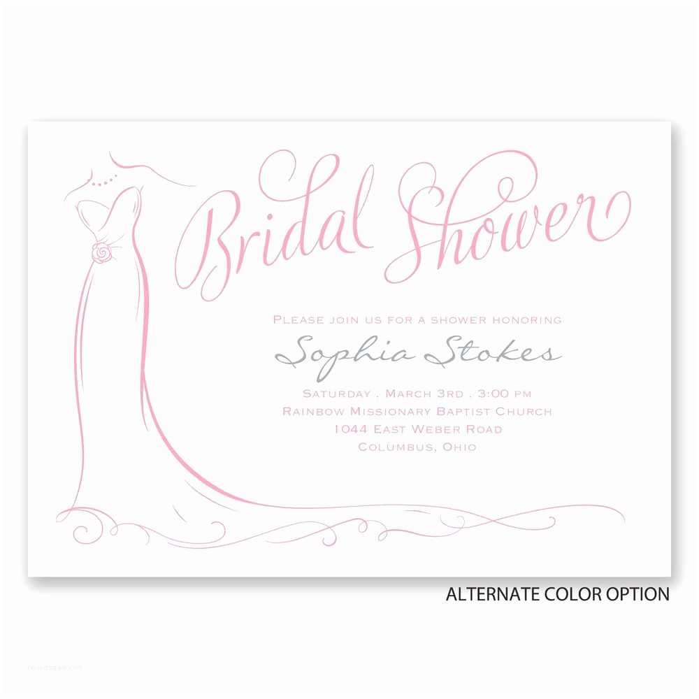 Elegant Wedding Shower Invitations Elegant Bride Bridal Shower Invitation