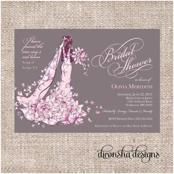 Elegant Wedding Shower Invitations Elegant Christian Bridal Shower Invitation by Diconshadesigns