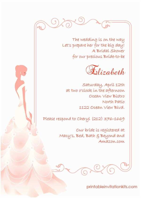 Elegant Wedding Shower Invitations Elegant Frame Bridal Shower Invitation ← Wedding