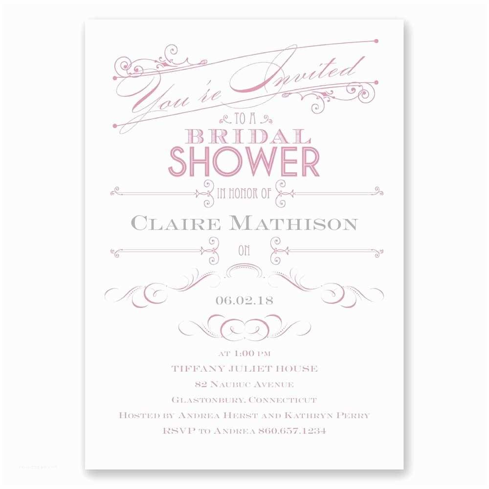 Elegant Wedding Shower Invitations Elegant Intro Bridal Shower Invitation