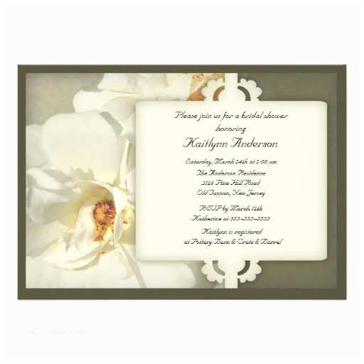 Elegant Wedding Shower Invitations Elegant Vintage Rose Bridal Shower Invitation