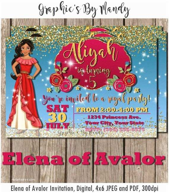 Elena Of Avalor Party Invitations 40 Best Images About De Birthday On Pinterest