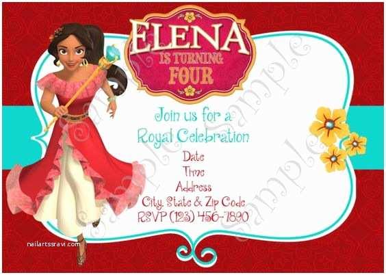 Elena Of Avalor Party Invitations Elena Of Avalor Invitation Elena Of Avalor Birthday Party