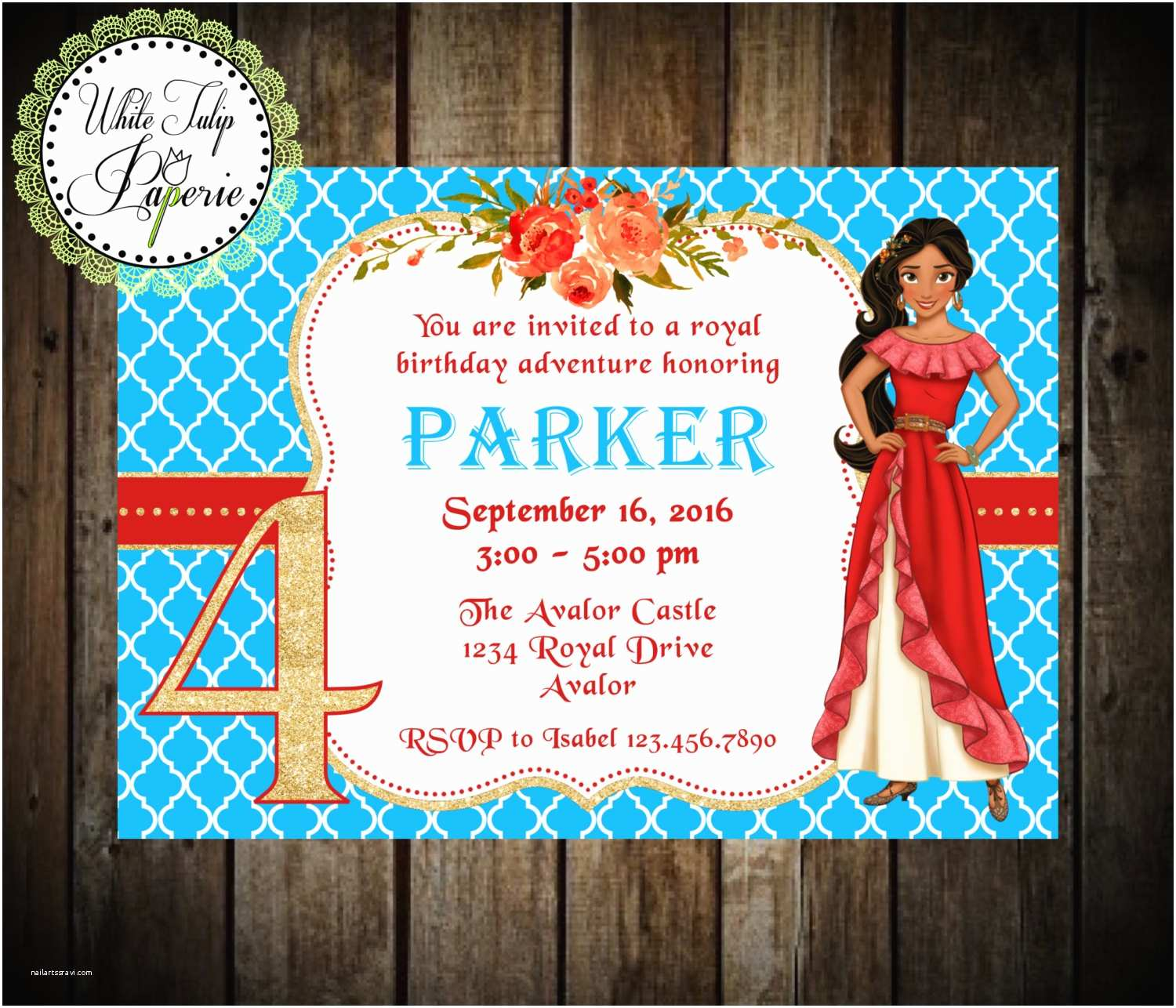 Elena Of Avalor Party Invitations Birthday