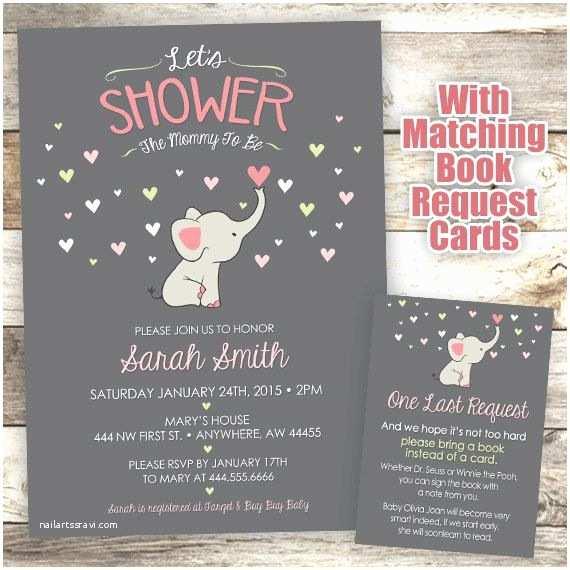 Elephant Baby Shower Invitation Best 25 Elephant Baby Showers Ideas On Pinterest