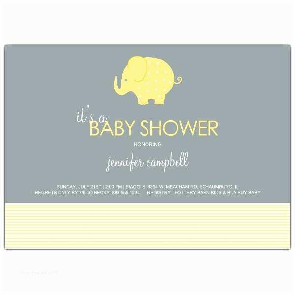 Elephant Baby Shower Invitation Elephant Stripes Neutral Baby Shower Invitations