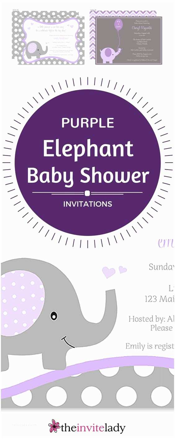 Elephant Baby Shower Invitation Elephant Baby Shower Invitation