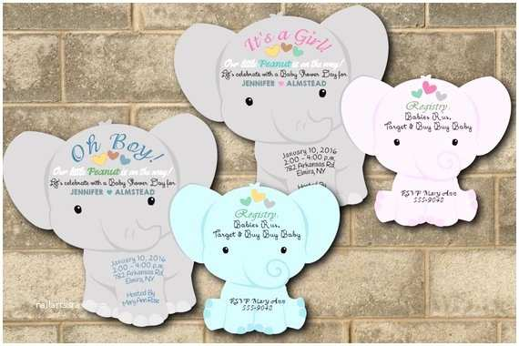 Elephant themed Baby Shower Invitations Elephant Baby Shower Invitation Elephant Shower Invitations