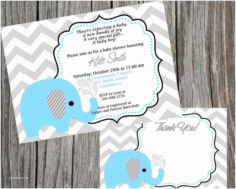 Elephant themed Baby Shower Invitations Elephant themed Baby Shower Invitations