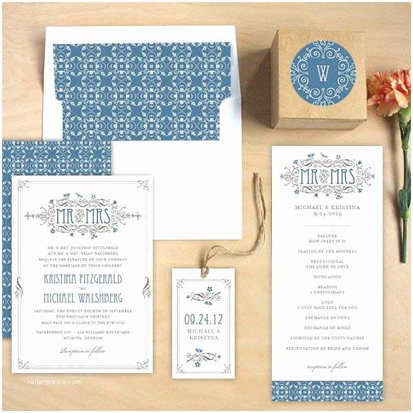 our printed wedding invitations and matching paper
