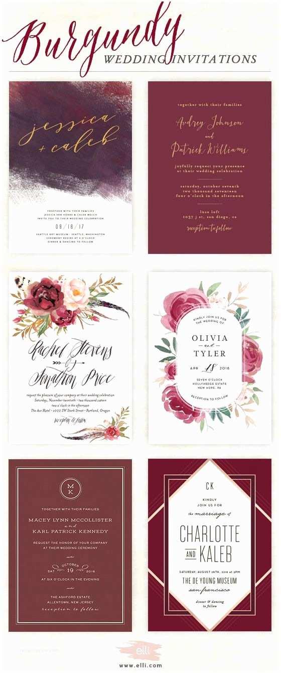 Elli Wedding Invitations Wedding Decorations Best Burgundy Wedding Invitations