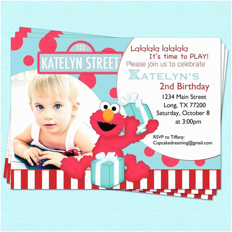 Elmo Birthday Invitations Elmo Birthday Invitations