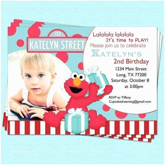 Elmo Birthday Invitations Elmo Birthday Invitations Sesame Street Inspired by