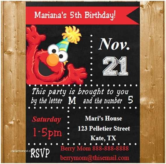Elmo Birthday Invitations Elmo Invitation Instant Download Elmo Party Invitations