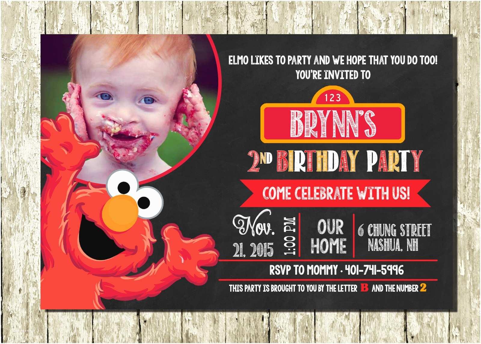 Elmo Birthday Invitations Pin Elmo Birthday Invitation On Pinterest