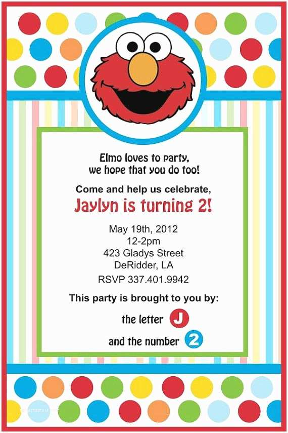 Elmo Birthday Party Invitations 25 Best Ideas About Elmo Invitations On Pinterest
