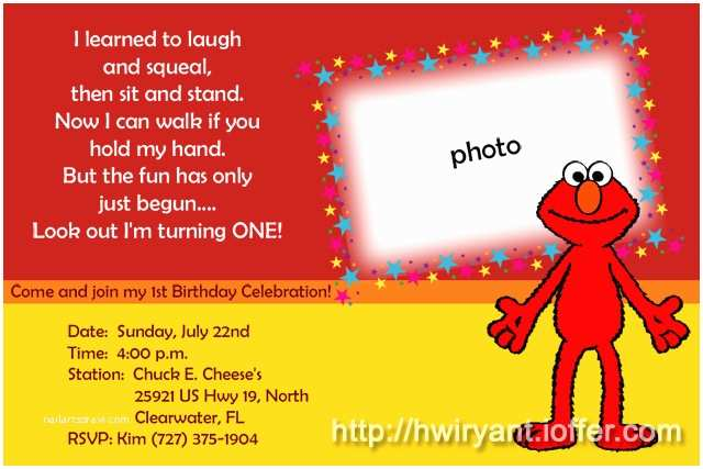 Elmo Birthday Party Invitations 9 Best Of Elmo First Birthday Printable Elmo