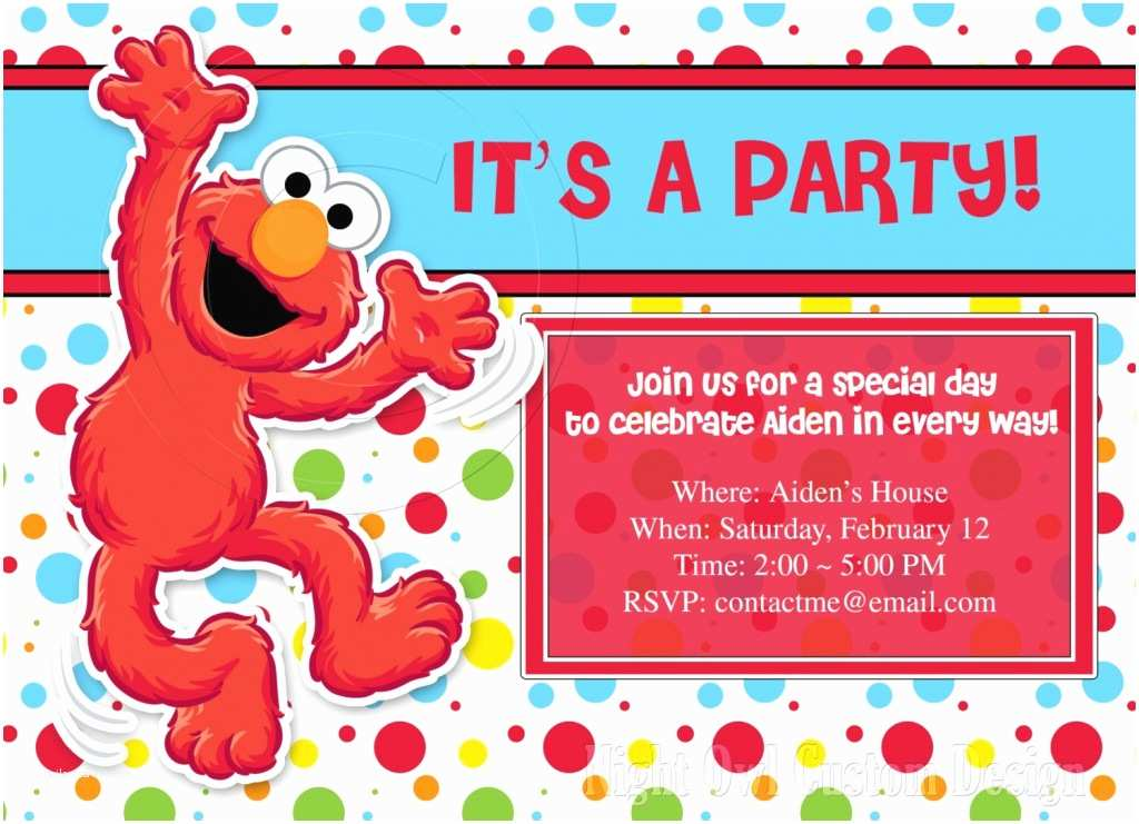 Elmo Birthday Party Invitations Customized Birthday Invitations Ideas – Bagvania Free