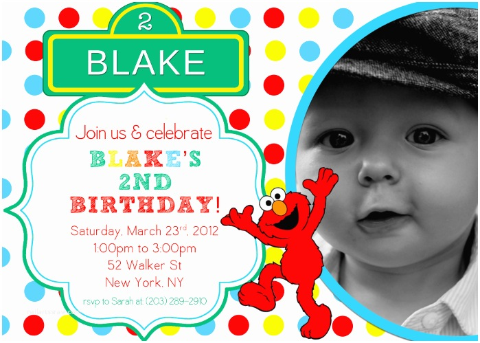 Elmo Birthday Party Invitations Elmo 1st Birthday Invitation – orderecigsjuicefo