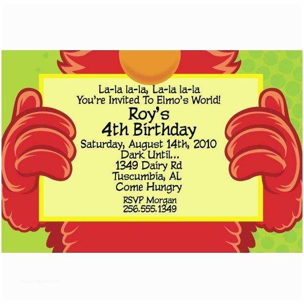 Elmo Birthday Party Invitations Elmo 1st Birthday Party Invitations A Birthday Cake