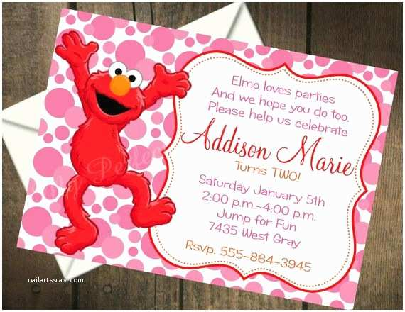 Elmo Birthday Party Invitations Elmo Birthday Invitations Birthday Invitations Sesame