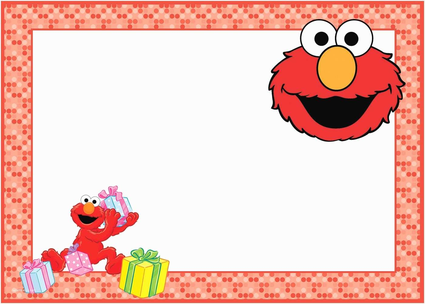 Elmo Birthday Party Invitations Elmo Birthday Party Invitation Card Free Printable