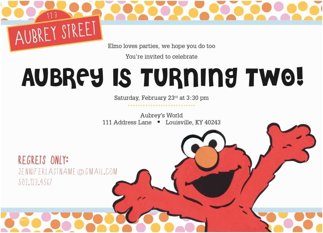 Elmo Birthday Party Invitations Elmo Birthday Party Invitation Doodle Dog Creative